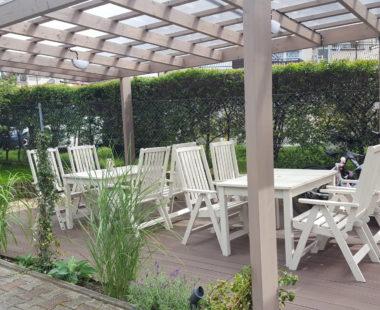 Ogród i wiata grillowa
